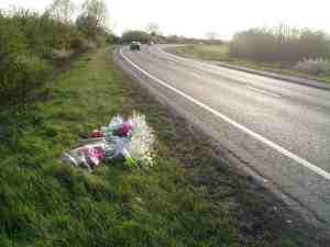 Picture of roadside memorial