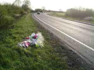 Picture of roadside memorial