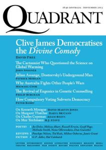 September 2013 Quadrant Magazine Cover